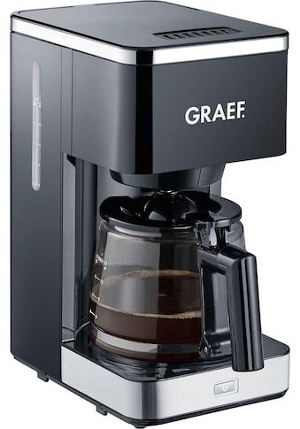 Graef Filterkaffeemaschine »FK 402«, Korbfilter, 1x4, mit Glaskanne, schwarz kaufen