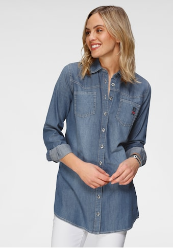 H.I.S Jeansbluse »Long-Bluse«, Nachhaltige, wassersparende Produktion durch OZON WASH kaufen