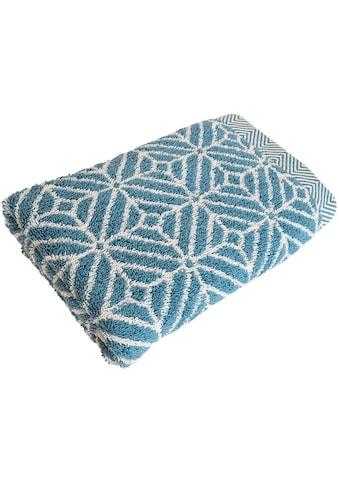 framsohn frottier Duschtuch »Design Rauten«, (1 St.), mit mehrfarbig gewebtem Saum kaufen