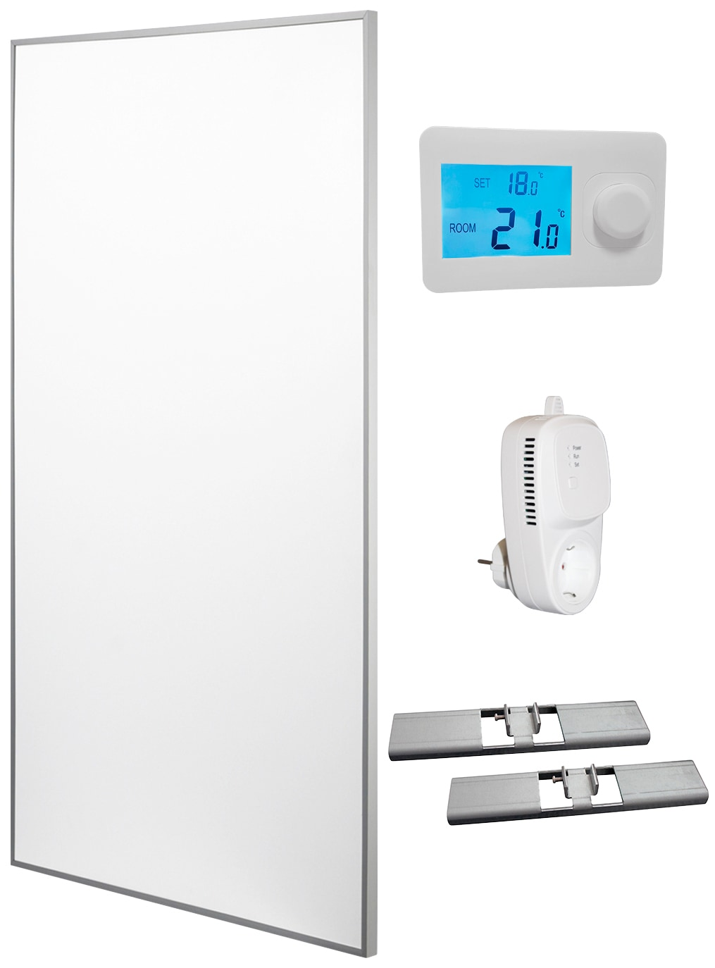 RÖMER Infrarot Heizsysteme Infrarotheizung Aluminium, 850 W, 60x120 cm | Baumarkt > Heizung und Klima > Heizgeräte | Weiß | Aluminium | RÖMER Infrarot Heizsysteme