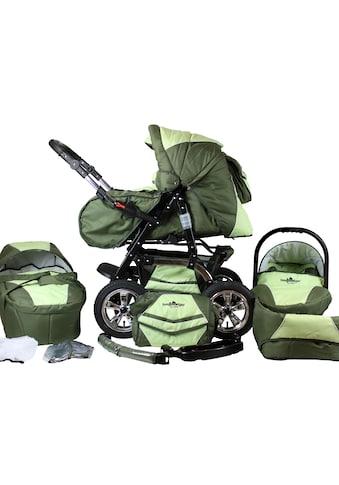 """bergsteiger Kombi - Kinderwagen """"Milano, dark green, 3in1"""", (10 - tlg.) kaufen"""