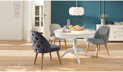 Home affaire 4-Fußstuhl »Desna«, in drei verschiedenen Farben und toller Holzoptik, Sitzhöhe 46 cm kaufen