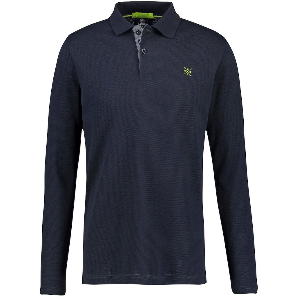 LERROS Langarm-Poloshirt