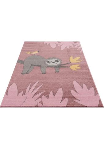 Kinderteppich, »Faultier«, Lüttenhütt, rechteckig, Höhe 14 mm, maschinell gewebt kaufen