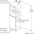 SIEMENS Einbaugefrierschrank »GI21VADD0«, iQ500, 87,4 cm hoch, 55,8 cm breit