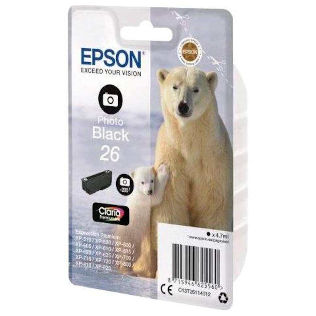 Epson Tintenpatrone »EPSON Photo black 26 PREMIUM INK (C13T26114012)«