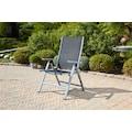 Greemotion Gartenstuhl »Monza Comfort XL«, Alu/Textil, verstellbar, klappbar, silber/schwarz