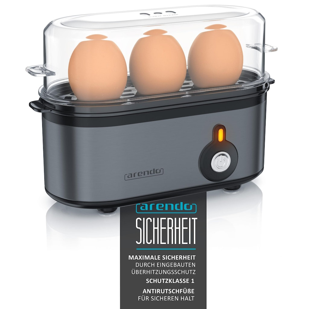 Arendo Frühstücks Set 2-teilig in Grau