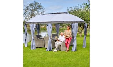 KONIFERA Pavillon mit Seitenteilen »Oval«, BxL: 350x500 cm, grau kaufen
