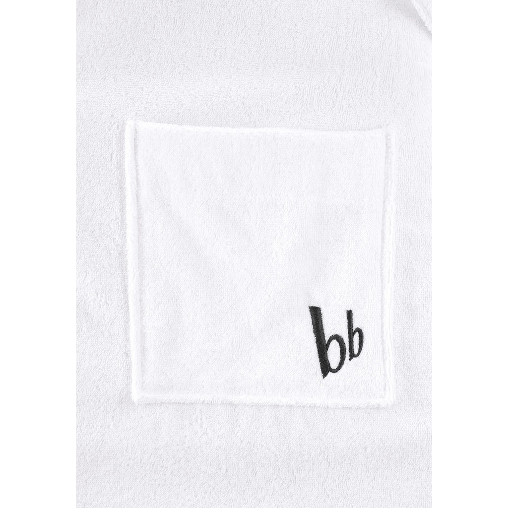 Bruno Banani Unisex-Bademantel »Robby«, (1 St.), mit »bb« Logostickerei