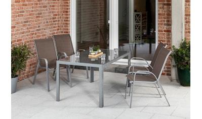 MERXX Diningset »Sorrento«, 5 - tlg., 4x Stapelsessel, Tisch 90x150 cm kaufen