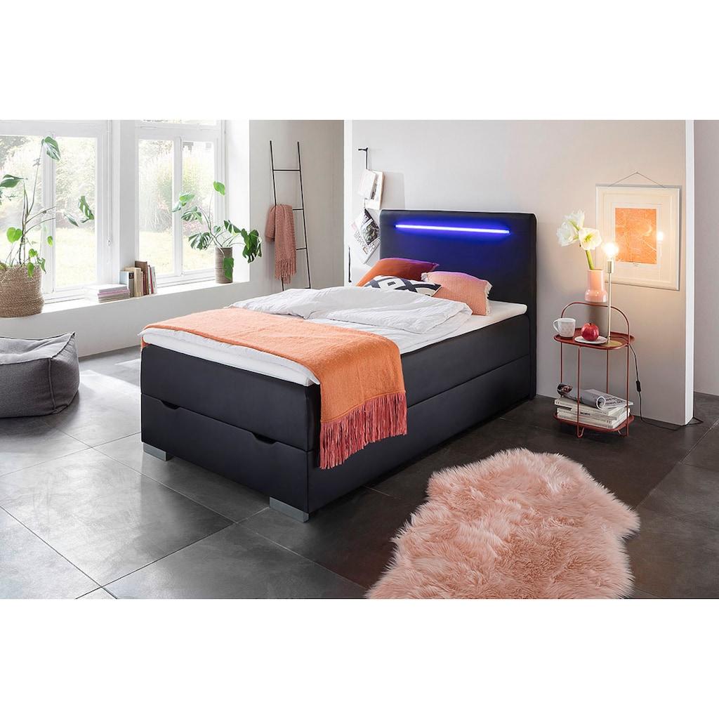meise.möbel Boxspringbett, mit LED-Beleuchtung, Bettkasten und Topper