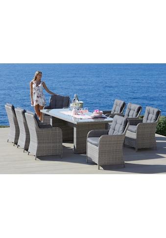 KONIFERA Gartenmöbelset »Menorca«, 25 - tlg., 8 Sessel, Tisch 230x100 cm, Polyrattan kaufen
