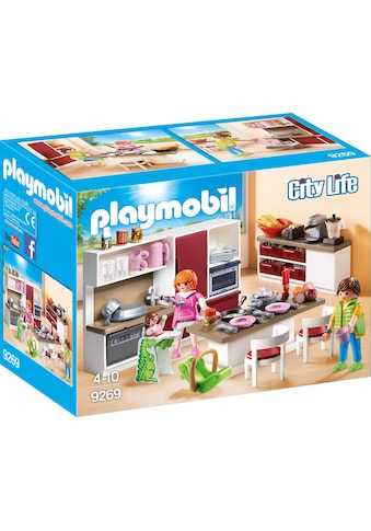 Playmobil® Konstruktions-Spielset »Große Familienküche (9269), City Life«, Made in Germany kaufen