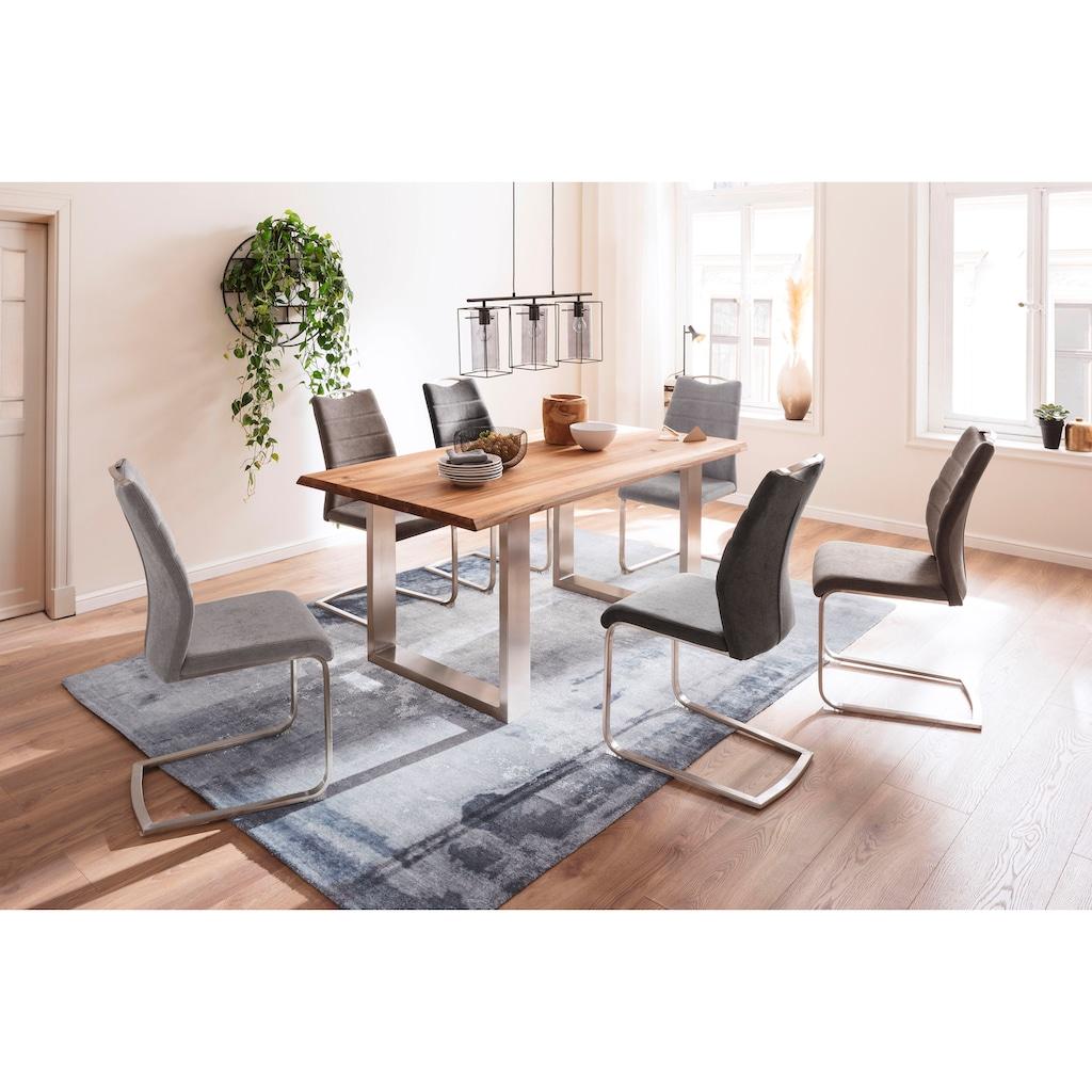 MCA furniture Esstisch »Greta«, Esstisch Massivholz mit Baumkante oder grader Kante