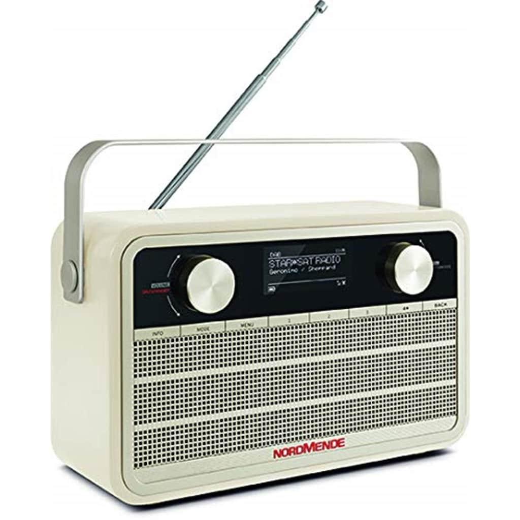 Nordmende Digitalradio (DAB+) »Transita 120 IR«, (WLAN Digitalradio (DAB+)-Internetradio 5 W), im Retrolook