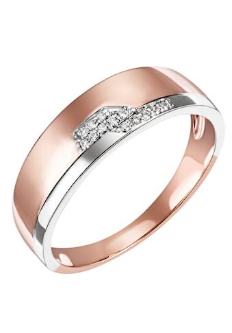 Firetti Diamantring »Feminin, Bicolor-Optik, teilw. rhodiniert, Glanz, massiv«, mit Brillanten kaufen