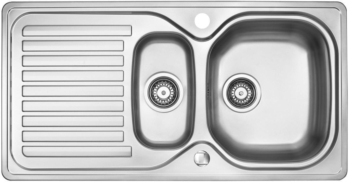 OPTIFIT Edelstahl-Einbauspüle | Küche und Esszimmer > Spülen > Einbauspülen | Silberfarben | Edelstahl | OPTIFIT