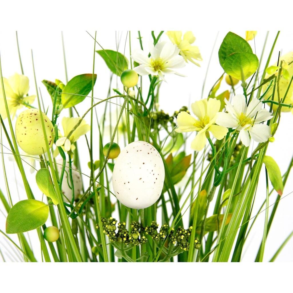 I.GE.A. Kunstgras »Gasbund«, mit feinen Blüten und Schleife