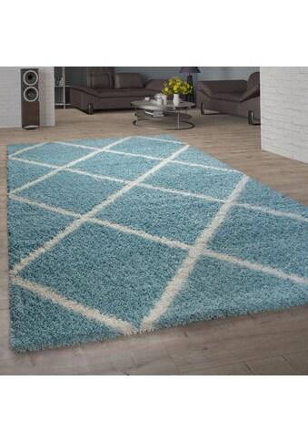 Paco Home Hochflor-Teppich »Kalmar 441«, rechteckig, 40 mm Höhe, Scandi Design, Rauten... kaufen