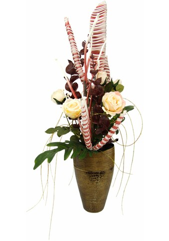 I.GE.A. Kunstpflanze »Arrangement Rosen in Vase« kaufen
