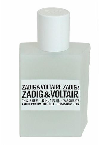 """ZADIG & VOLTAIRE Eau de Parfum """"This is Her!"""" kaufen"""