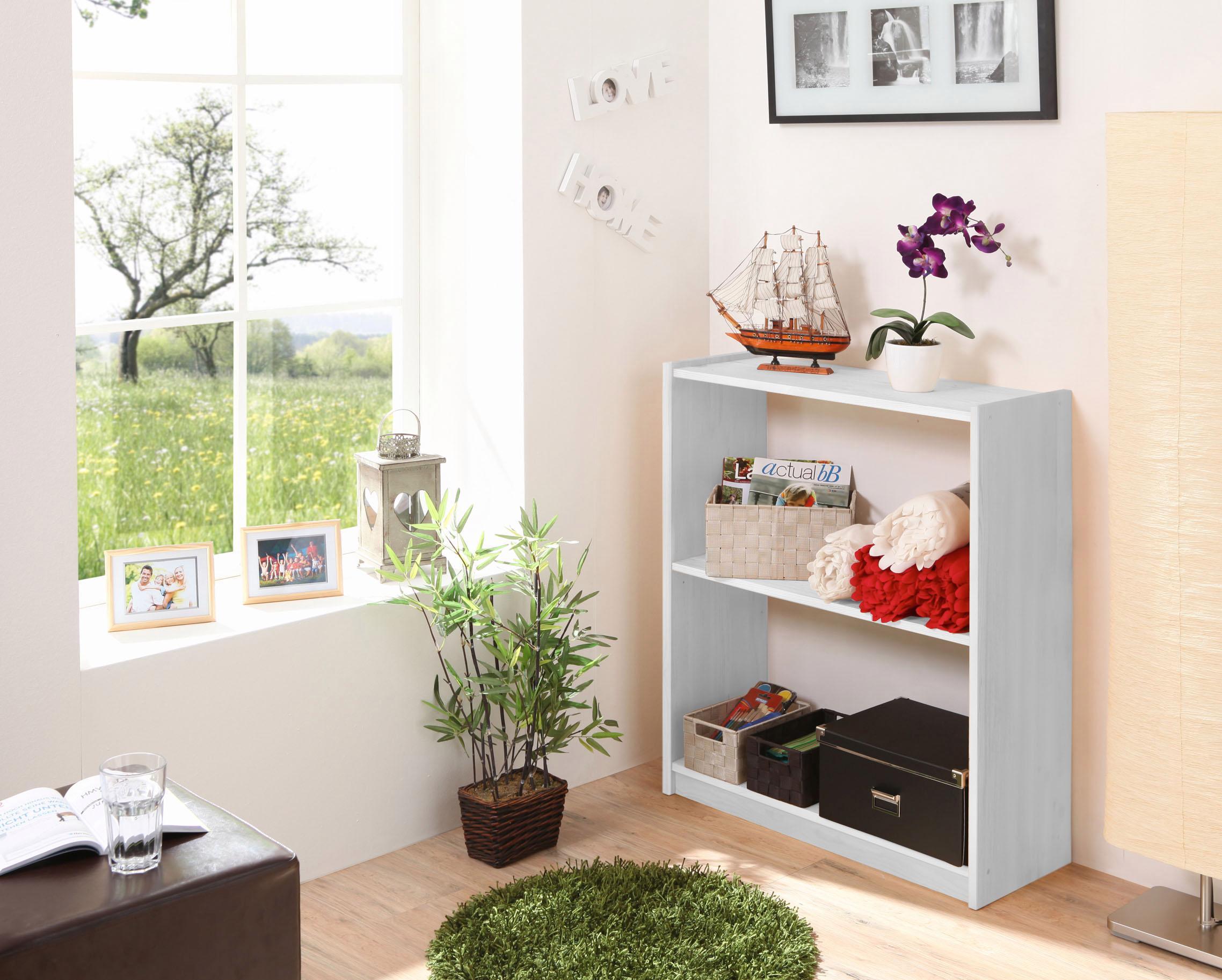 Ticaa Standregal in 3 Höhen von 92 - 132 cm, Kiefer   Kinderzimmer > Kinderzimmerregale   Natur   Kiefer   TICAA