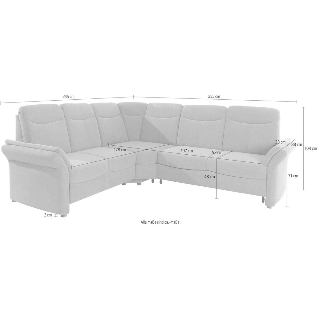 sit&more Ecksofa, wahlweise mit Bettfunktion, Relaxfunktion und Schubkasten
