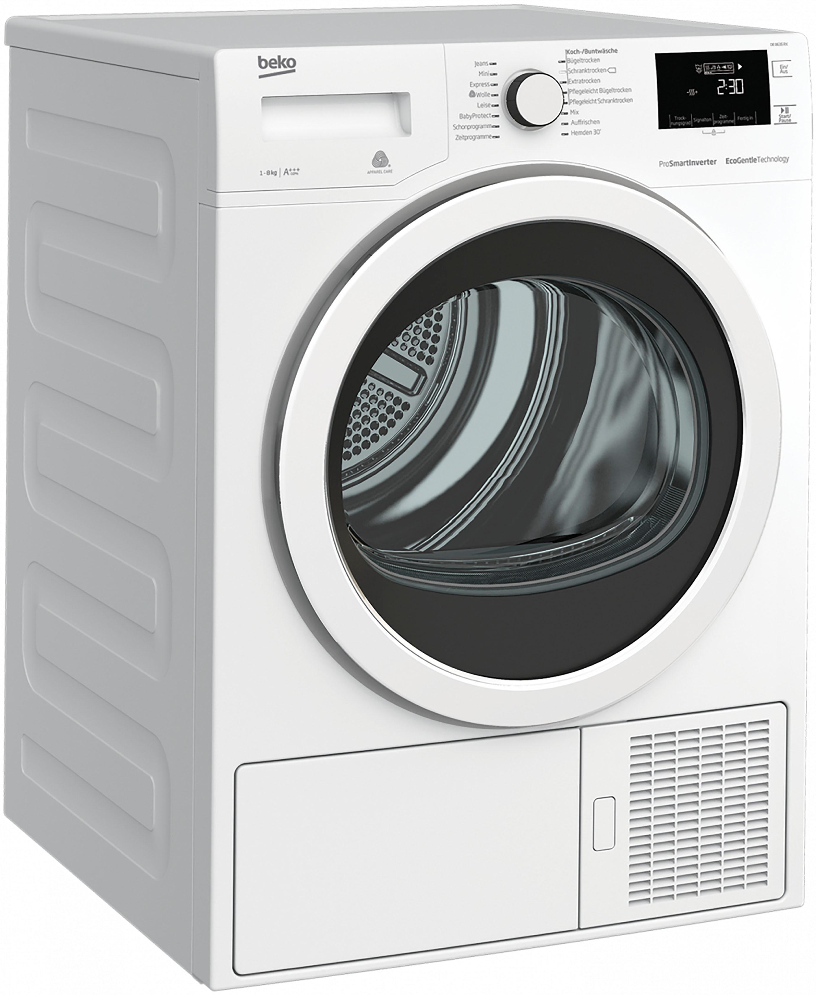 BEKO Wärmepumpentrockner DE8635RX, 8 kg | Bad > Waschmaschinen und Trockner > Wärmepumpentrockner | Weiß | BEKO