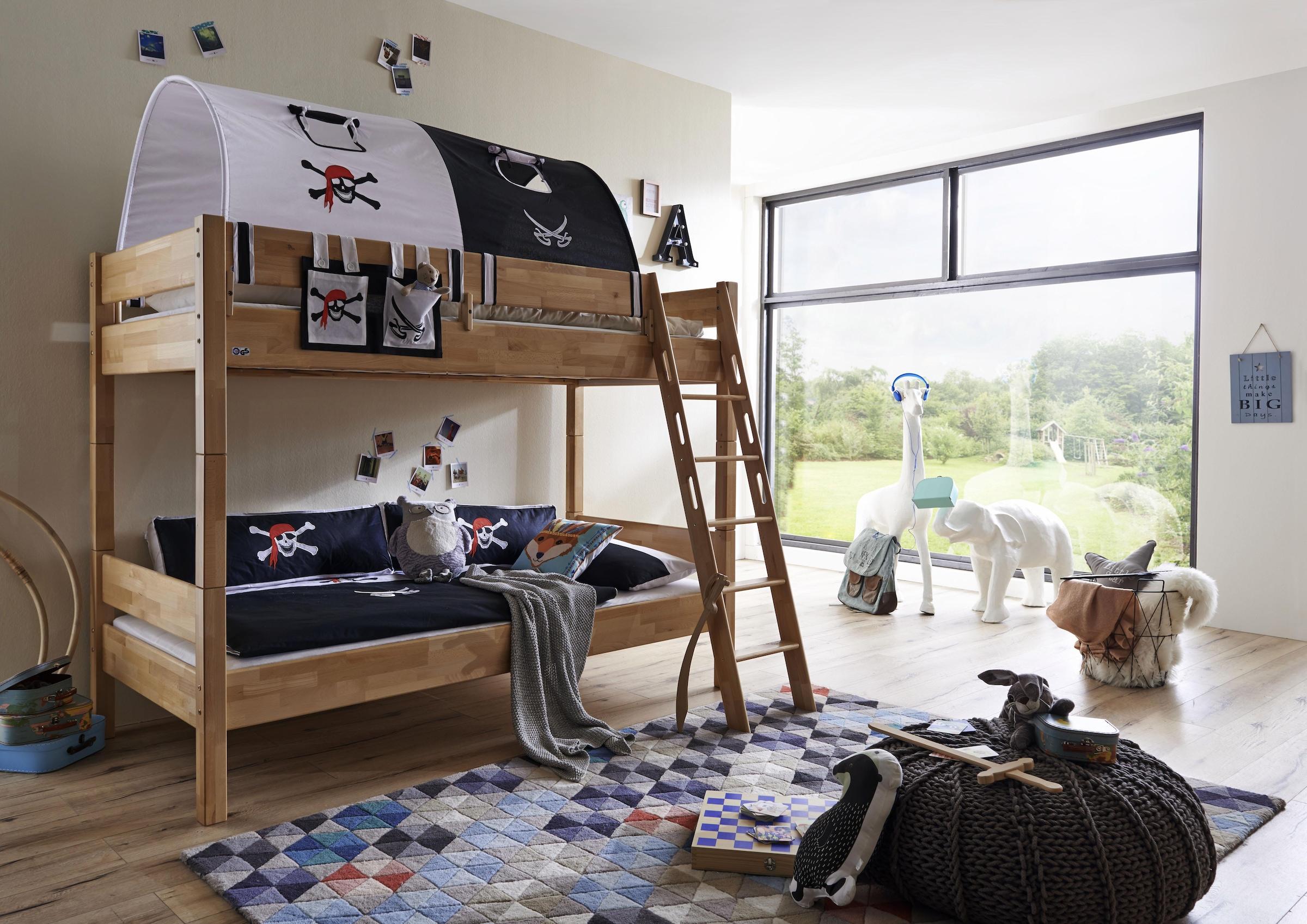 Etagenbett Set : Blau buche massiv etagenbetten online kaufen möbel suchmaschine