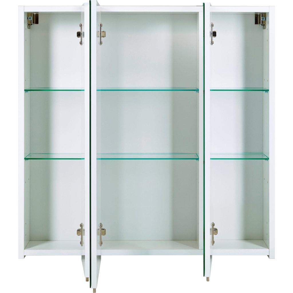 Schildmeyer Spiegelschrank »Basic«, Breite 70 cm, 3-türig, Glaseinlegeböden, Made in Germany