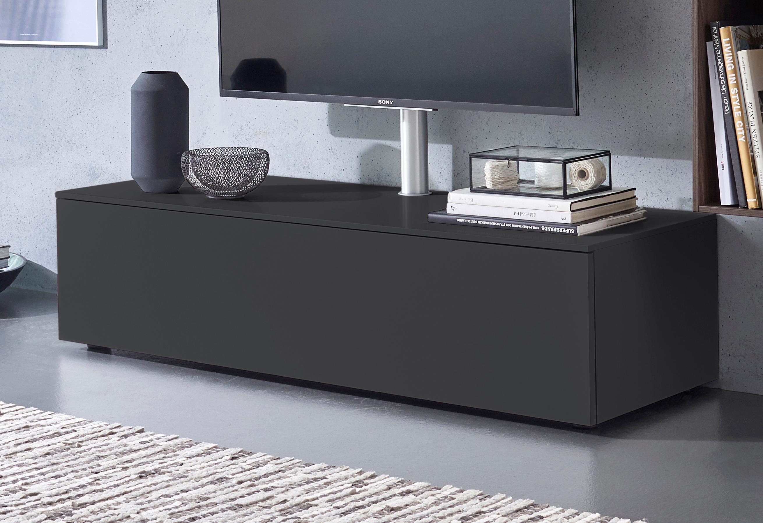 SPECTRAL Lowboard »Select« wahlweise mit TV-Halterung, Breite 140 cm | Wohnzimmer > TV-HiFi-Möbel > TV-Halterungen | Schwarz | Abs | SPECTRAL