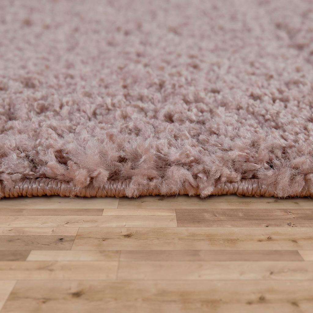 Paco Home Hochflor-Teppich »Nox 270«, rechteckig, 35 mm Höhe, Hochflor-Shaggy, einfarbig und weich, Wohnzimmer