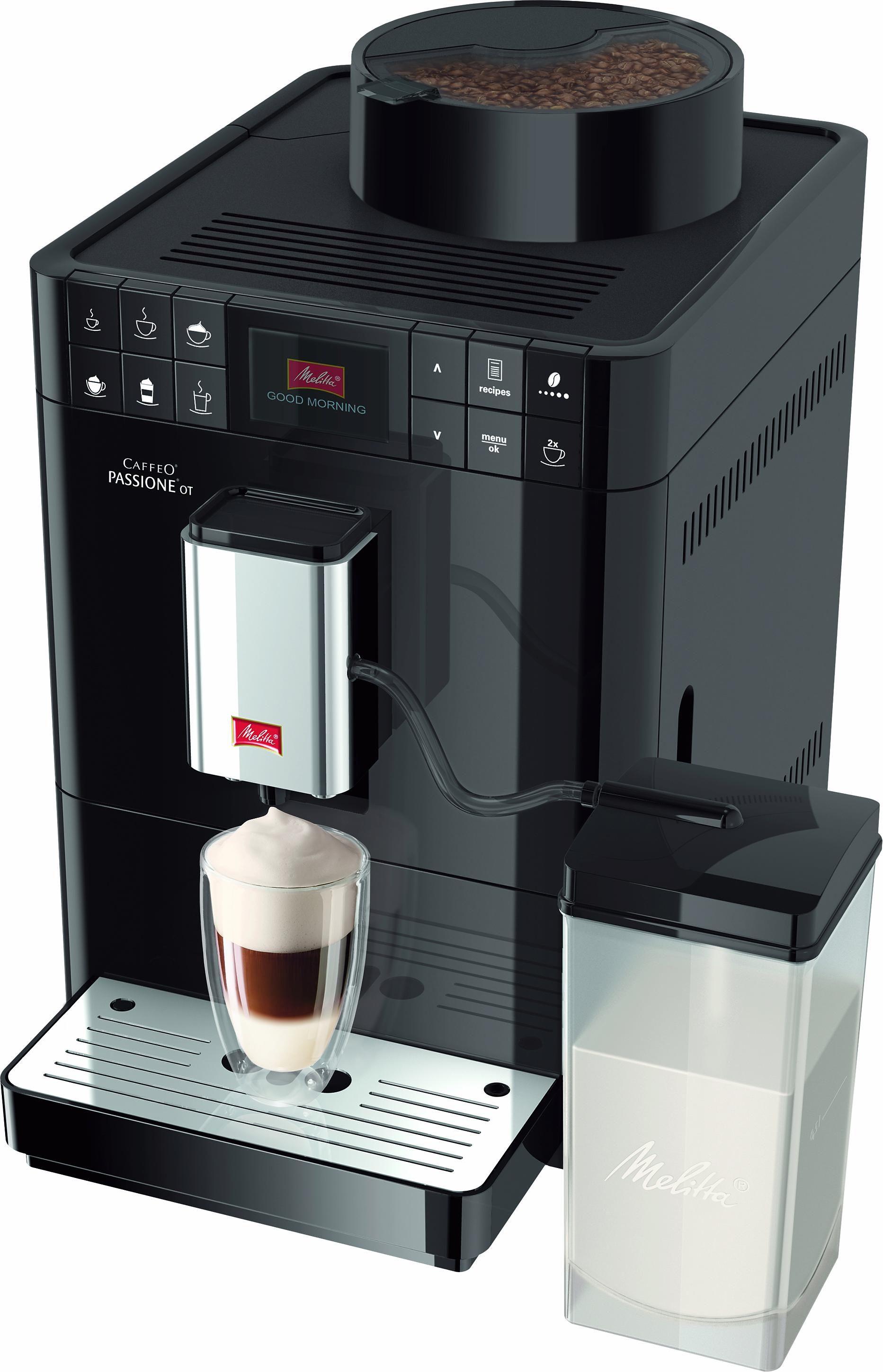 Melitta Kaffeevollautomat Caffeo® Passione® OT F53/1-102, 1, 2l Tank, Kegelmahlwerk   Küche und Esszimmer > Kaffee und Tee > Kaffeevollautomaten   Schwarz   Melitta