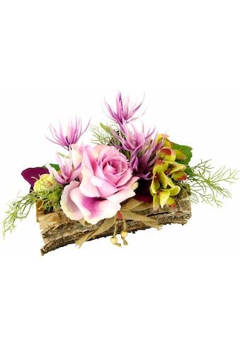 I.GE.A. Kunstpflanze »Gesteck Rose in Schale« (1 Stück) kaufen