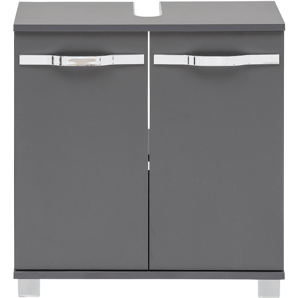 Schildmeyer Waschbeckenunterschrank »Dina«, mit glänzenden Metallgriffen