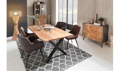 SIT Esstisch »Tops&Tables«, aus massiver Akazie, mit Baumkantenoptik kaufen