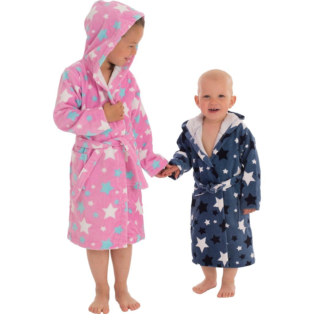 Wewo fashion Kinderbademantel »8207«, (1 St., mit Gürtel), mit Sternen