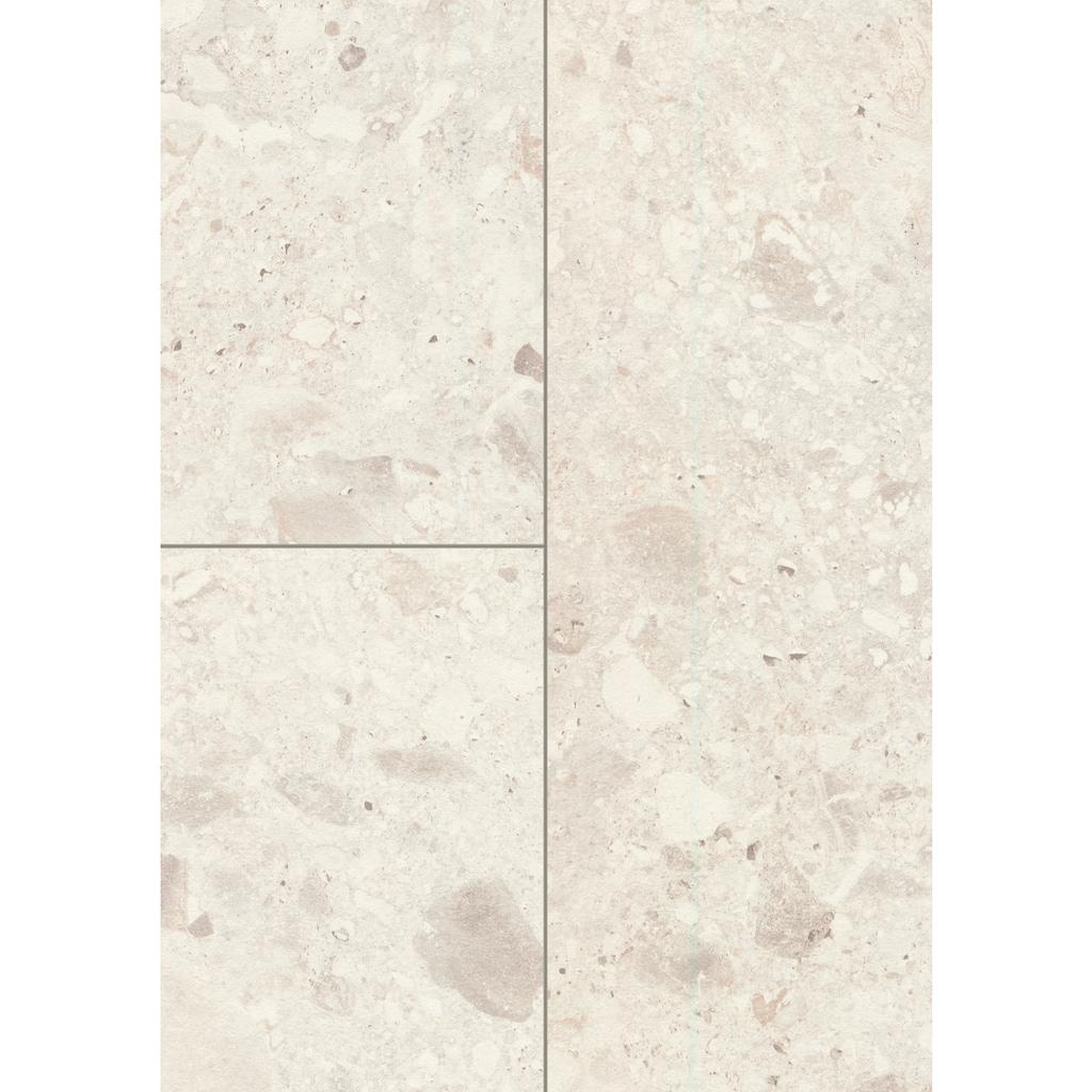 EGGER Packung: Fußboden »Aqua+ EHL137 Triestino Terrazzo weiss«, 1291 x 327, Stärke: 8 mm