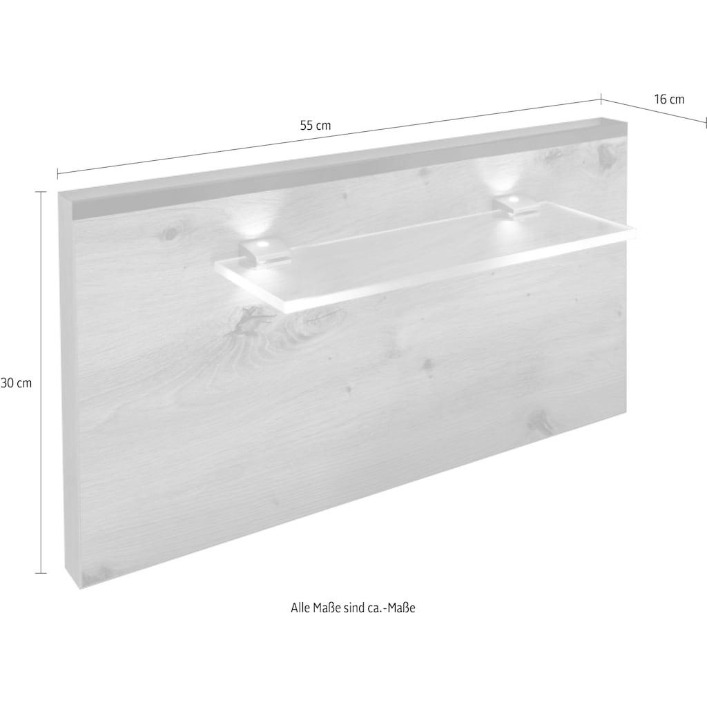 Schlafkontor Aufsatzpaneel »Solid«, 2-tlg. Set inkl. LED-Beleuchtung