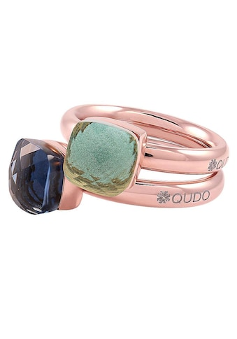 qudo Ring-Set »Firenze small, O600097, O600098, O600099, O600100, O600101«, (Set, 2 tlg.), mit Zirkonia kaufen