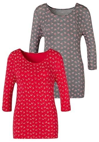 LASCANA T-Shirt, mit kleinem Cut-Out am Ärmel kaufen