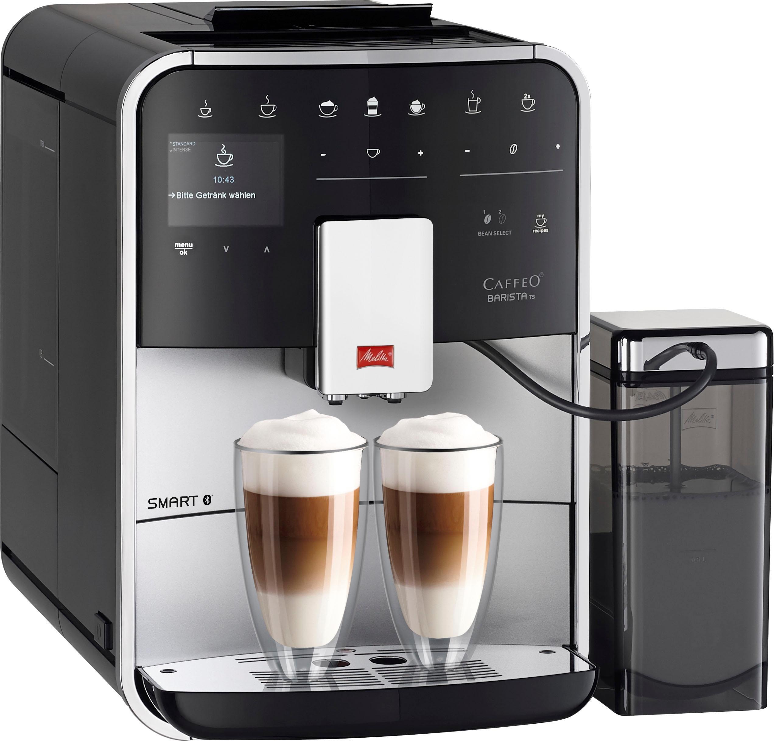 Melitta Kaffeevollautomat Melitta®CAFFEO Barista TS Smart® F85/0-101, silberfarben/schwarz, 1,8l Tank, Kegelmahlwerk | Küche und Esszimmer > Kaffee und Tee > Kaffeevollautomaten | Melitta