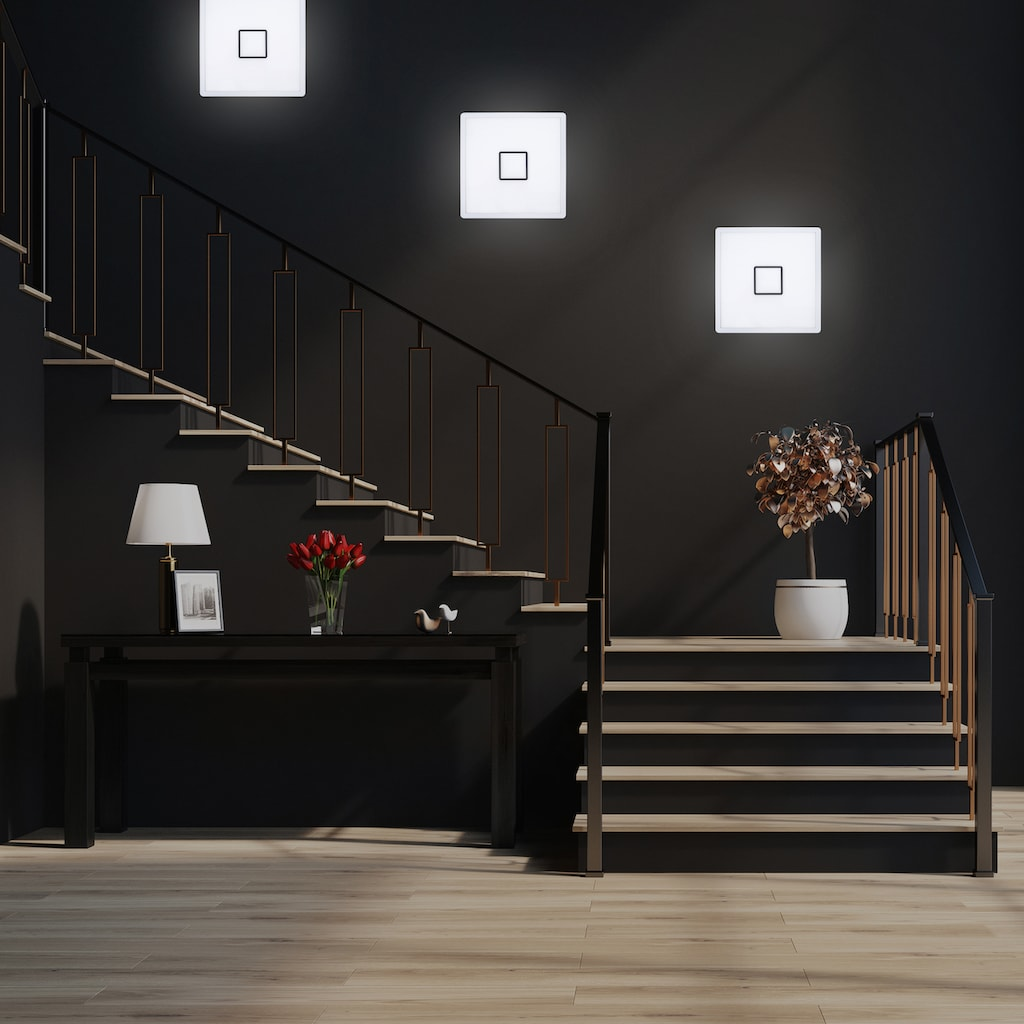 B.K.Licht LED Deckenleuchte, LED-Board, Neutralweiß, LED Deckenlampe ultraflach Wohnzimmer Panel Flur Slim inkl. 18W 2400lm