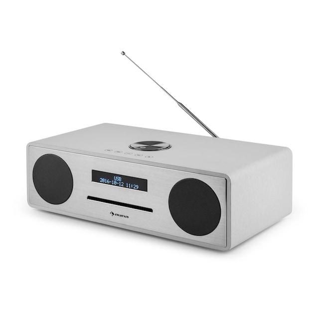 Auna Mini Stereo Wecker DAB CD Radio DAB+ Bluetooth USB MP3 AUX UKW »Stanford«