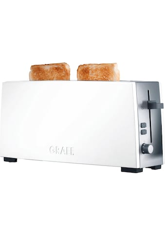 Graef Toaster »TO 91«, 1 langer Schlitz, 880 W, Langschlitztoaster, weiß kaufen