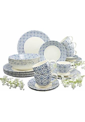 CreaTable Kombiservice »ORIENTAL BLUE«, (Set, 30 tlg.), traditionelles Dekor kaufen