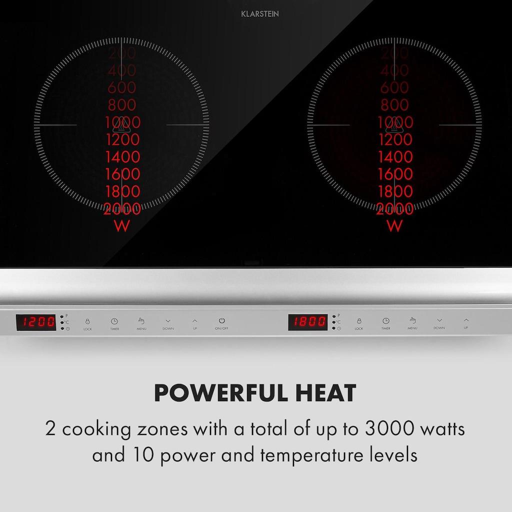 Klarstein MisterCook Duo Kochplatte Infrarot 3000W 90-650°C Absc