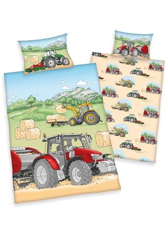 Babybettwäsche »Traktor«, mit tollem Traktor-Motiv kaufen