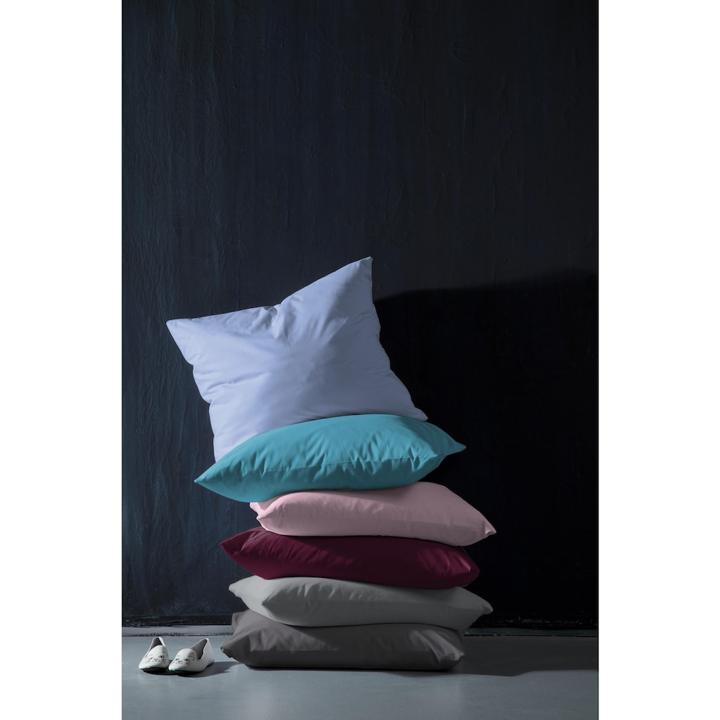 damai Kissenbezüge »Pure Uni«, (2 St.), in großer Farbauswahl